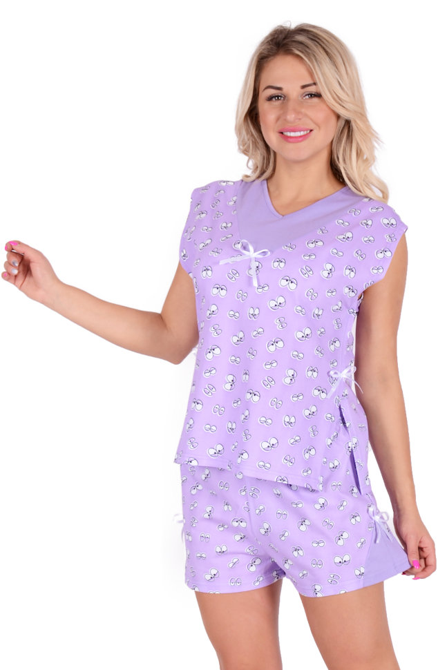 "Женская пижама ""Клёпа"" футболка и шорты"