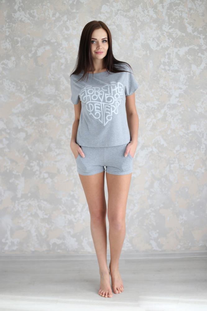 """Пижама женская """"Варя"""" футболка и шорты"""