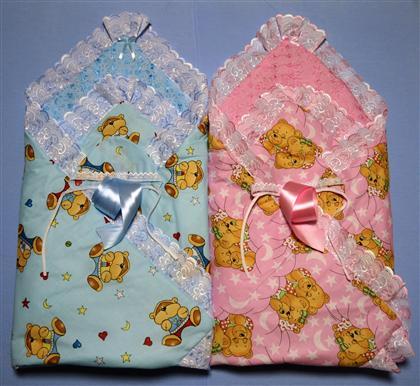 Купить Одеяло Поплин лето на выписку Мишка , 110х110, Детские одеяла и подушки