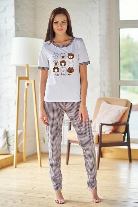 "Пижама женская ""Нормандия"" футболка и брюки"