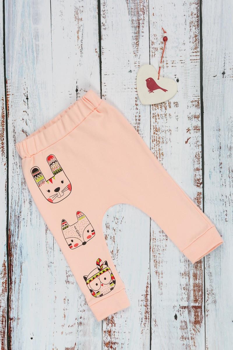 Штанишки Happy Friends персиковый, 80, Штанишки, шорты  - купить со скидкой