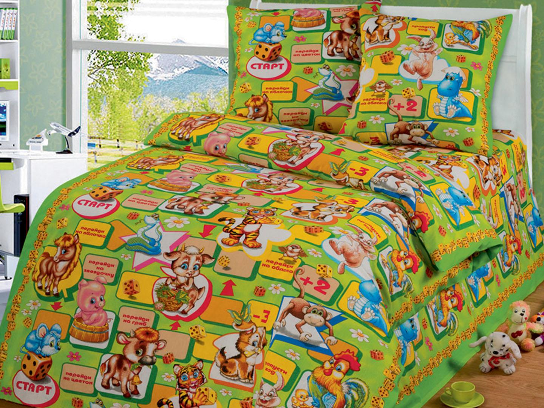 Купить Комплект детского постельного белья Игра , 1, 5-спальный Наволочки (2 шт.) - 50х70, Детское постельное белье