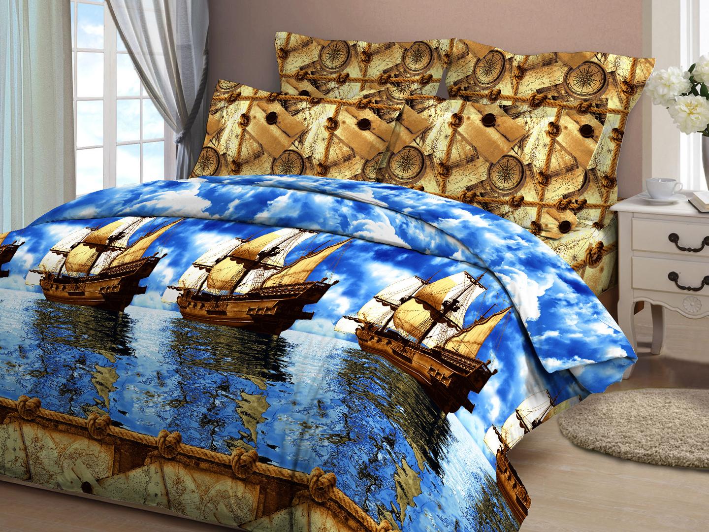 """Комплект постельного белья """"Морское путешествие"""""""