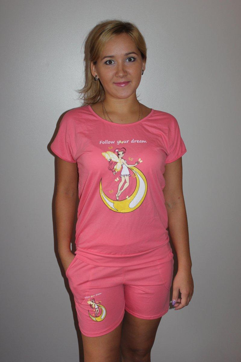 """Пижама женская """"Розовая фея"""" футболка и шорты IGL-W-Pj-P723.4"""