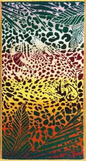"""Полотенце махровое """"Леопард в джунглях"""""""