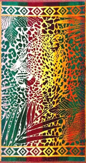 """Полотенце махровое """"Леопард в джунглях-2"""""""