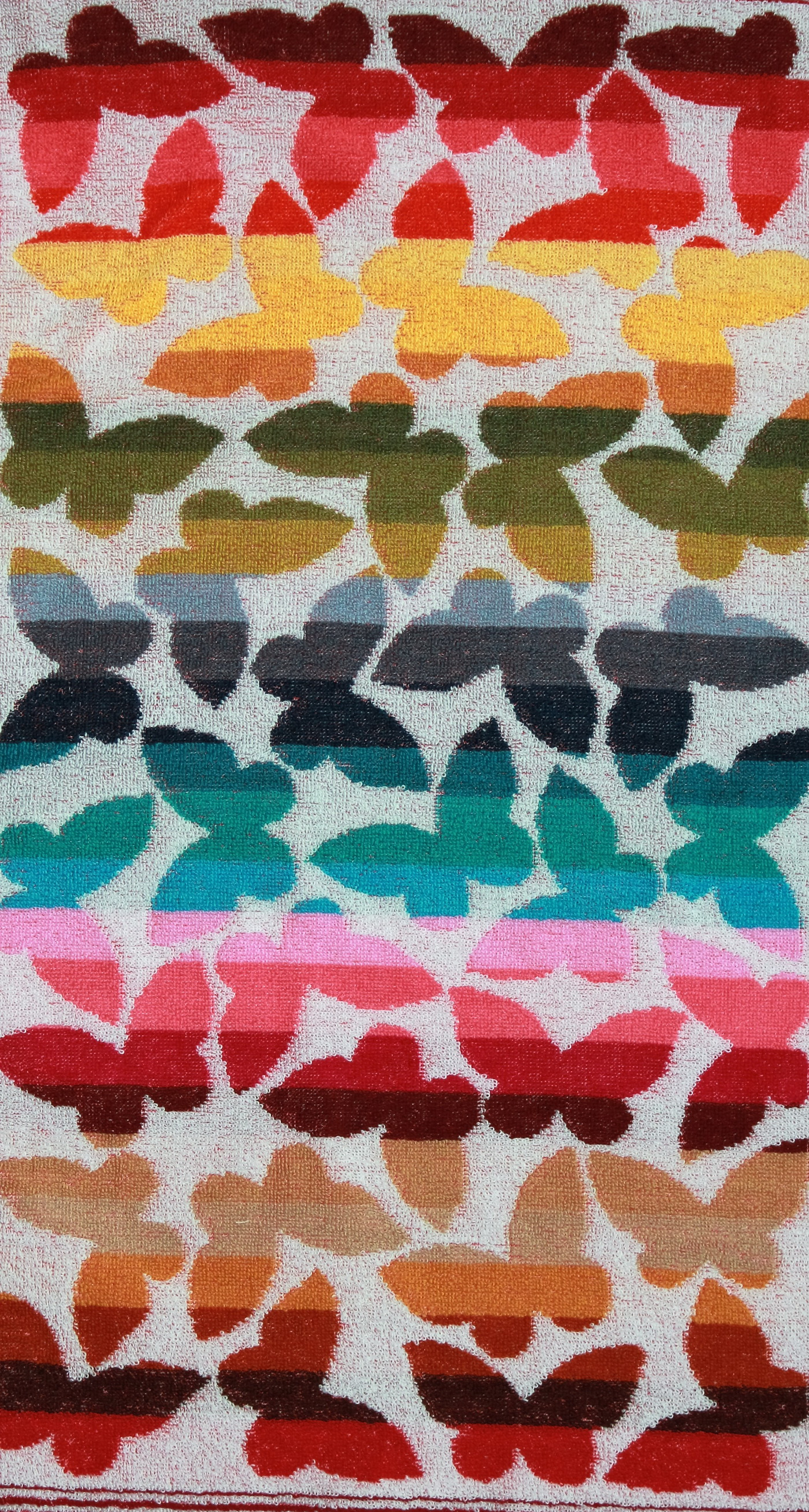 """Полотенце махровое """"Весенние бабочки"""" 30х80"""