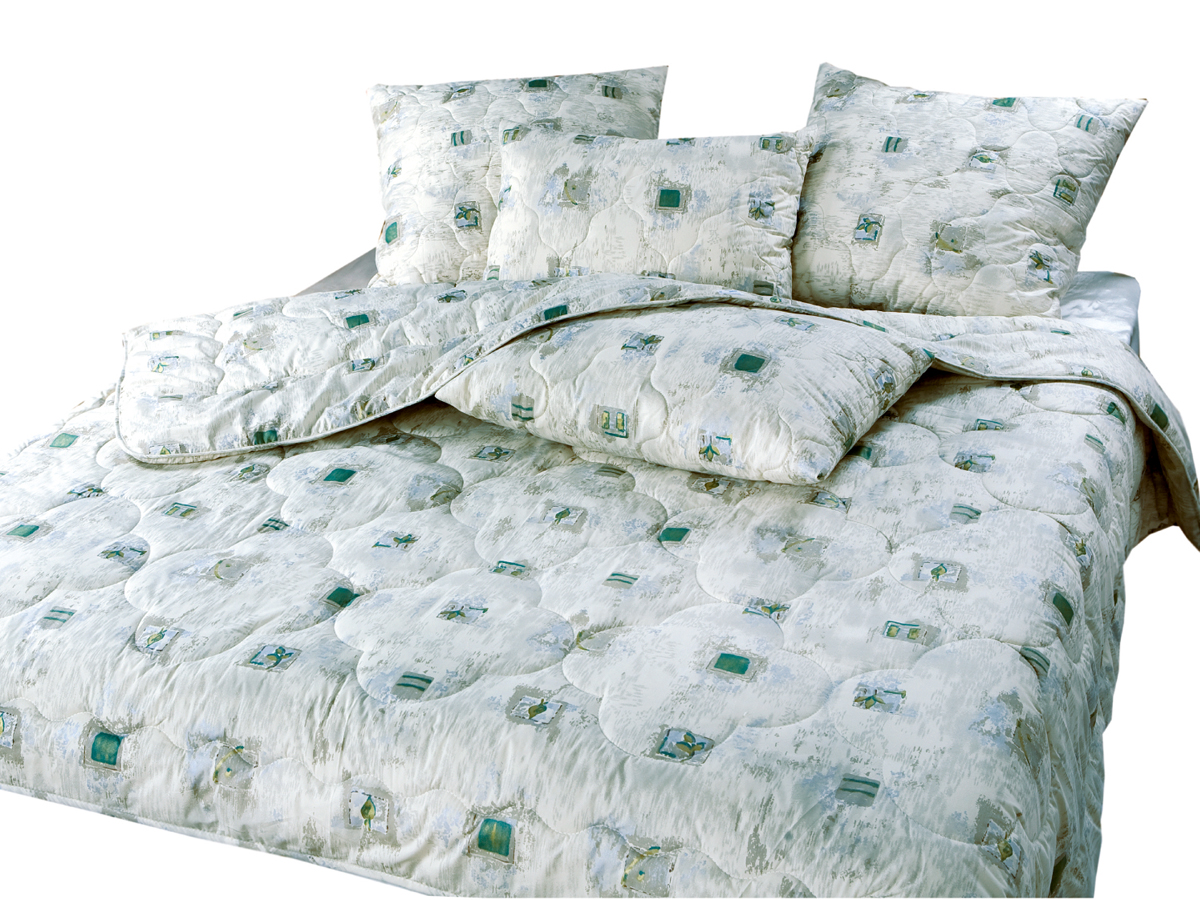 Набор для спальни Бамбук (1 одеяло + 2 подушки) (в тике) TT-Nab-BAMBOO