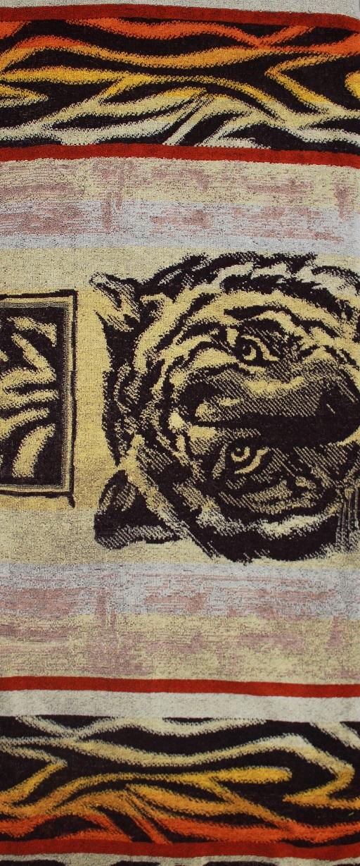 """Простыня махровая жаккардовая """"Тигр"""""""