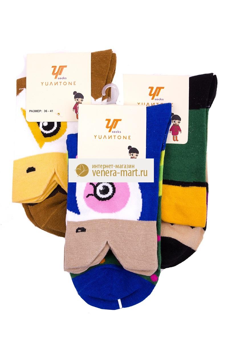 """Носки женские """"Yulitone"""" в упаковке, 4 пары GT-W-Nsk-14-30-2-6-502"""