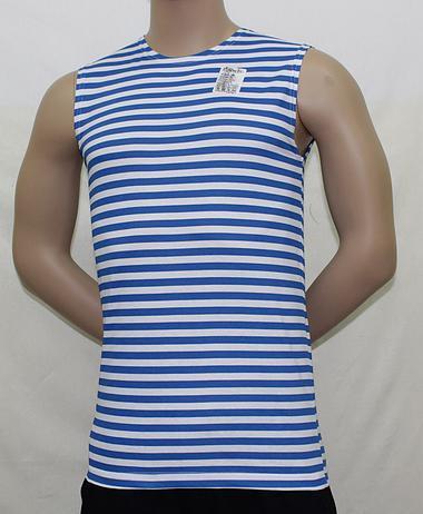 Безрукавка мужская полосатая голубая LM-BP-02