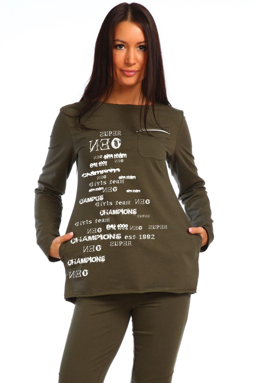 Туника женская с длинным рукавом карман N37-W-T-754