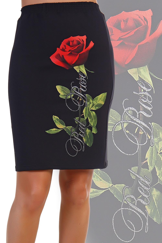 """Фото #1: Юбка женская """"Red Rose"""" с рисунком"""