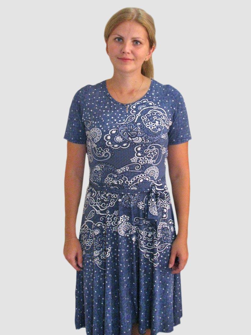 """Платье женское """"Звездная ночь"""" с поясом"""