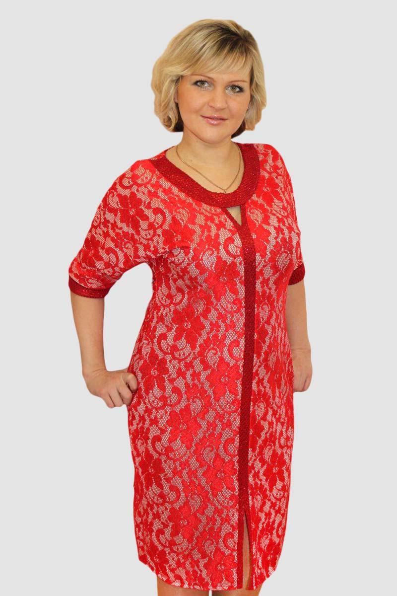 """Платье женское """"Red Star"""" с круглым вырезом"""