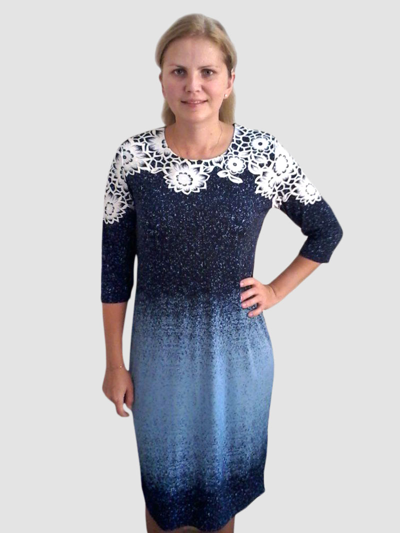 """Платье женское """"Астра"""" с рукавом 3\4"""