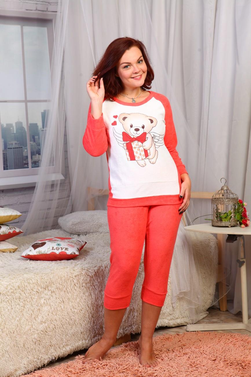 """Пижама женская """"Подарок"""" с длинным рукавом AT-W-Pj-135"""