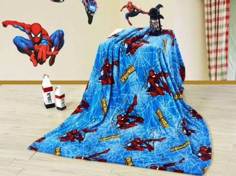 Купить Плед из велсофта Человек паук с детским рисунком, 115х150 см, Детские покрывала, пледы и наволочки