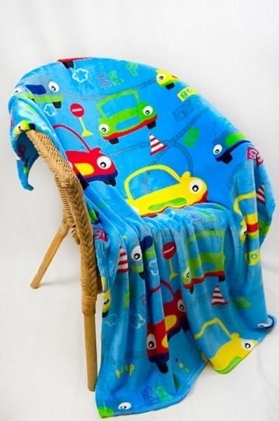 Купить Плед из велсофта Автобейби с детским рисунком, 115х150 см, Детские покрывала, пледы и наволочки