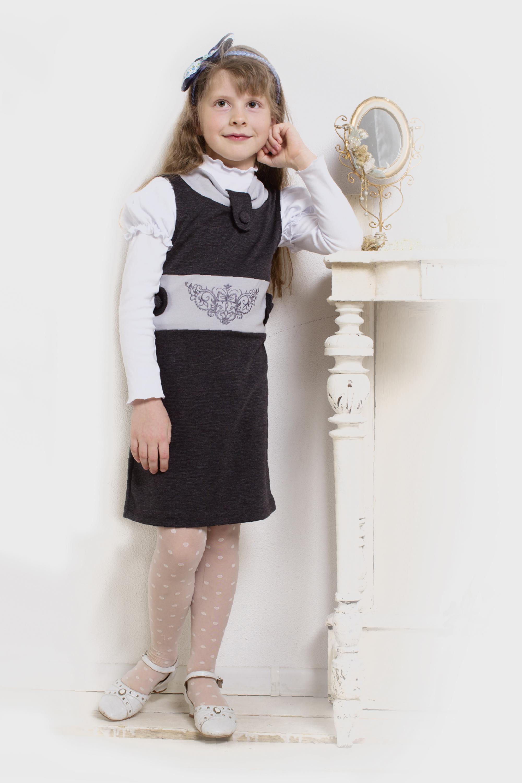 Купить Сарафан школьный для девочки Гимназистка-3 , 128, Школьная форма