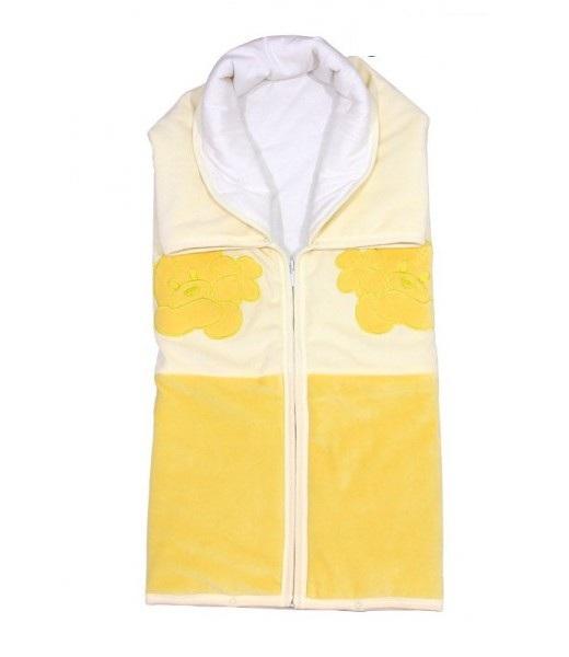 Купить Плед детский на молнии Винни Пух , Жёлтый, Детские покрывала, пледы и наволочки