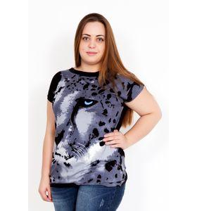 """Блуза женская """"Леопард"""" с коротким рукавом"""