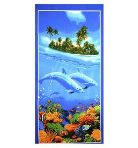 """Полотенце для бани и сауны """"Дельфины"""""""