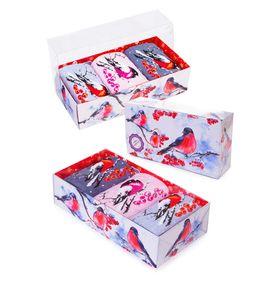"""Носки женские """"Снегири"""" в упаковке, 3 пары"""