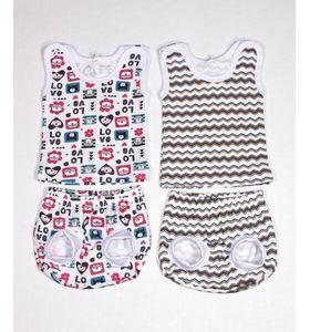 """Комплект для девочки """"Полоса"""" майка и трусики под памперс"""