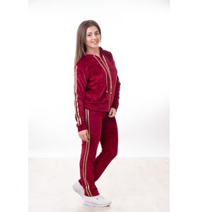 """Костюм женский """"Креатив"""" толстовка и брюки (бордовый)"""
