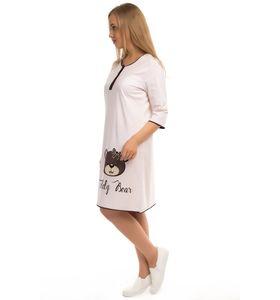 """Ночная сорочка женская """"Teddy Bear"""" с рукавом 3/4"""
