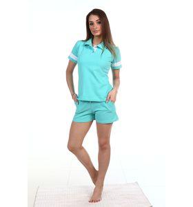 """Костюм женский """"Поло"""" футболка и шорты"""