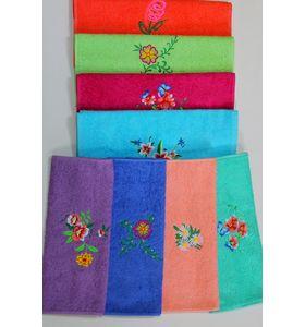 """Полотенце махровое """"Цветочки"""" с вышивкой"""