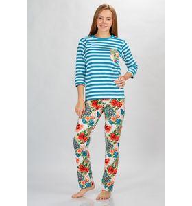 Костюм женский Бриз-1 футболка д-р+брюки макси