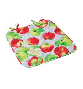 """Чехол на стул """"Яблочное угощение"""" с завязками"""