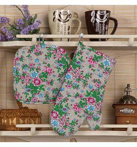"""Набор для кухни """"Полевые цветы"""" из двух предметов"""