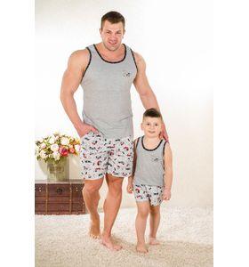 "Пижама мужская ""Такса М-2"" майка и шорты"