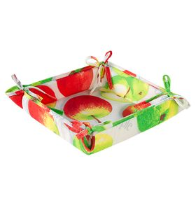 """Текстильная ваза """"Яблочное угощение"""" с завязками"""