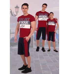 """Костюм мужской """"Бекас"""" футболка и шорты"""
