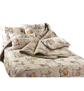 Набор для спальни Верблюжья шерсть (1 одеяло + 2 подушки) (в тике)