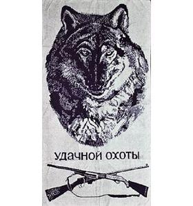 """Полотенце махровое жаккардовое """"Удачной охоты"""" банное"""