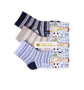 """Носки детские для мальчика """"Юра"""" в полоску в упаковке, 12 пар"""