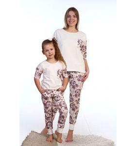 """Пижама женская """"Мишки"""" футболка и брюки"""