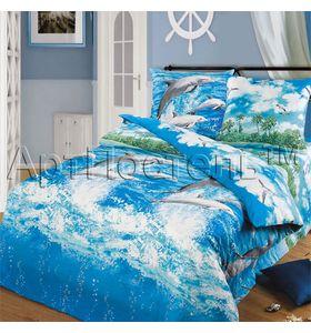 """Комплект постельного белья """"Морской бриз"""" из бязи"""