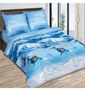 """Комплект постельного белья """"Дельфины"""" из поплина"""