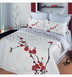 """Комплект постельного белья """"Зимняя вишня"""" из сатина"""