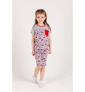 """Пижама подростковая для девочки """"Злата 2"""" футболка и шорты"""