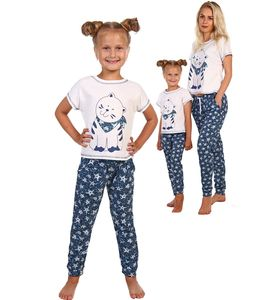 "Костюм детский для девочки ""Нафаня"" футболка и брюки"