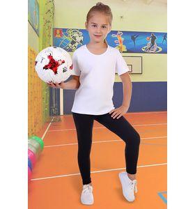 """Футболка для девочки """"Вымпел"""" однотонная"""