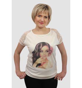 """Блуза женская """"Анхелика"""" с кружевным рукавом"""